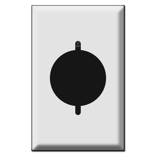 Oversized Single 2.125'' Dryer Power Outlet or Range Switch Plates