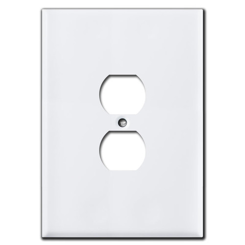 Extra Large Oversized Receptacle Plate Covers - White