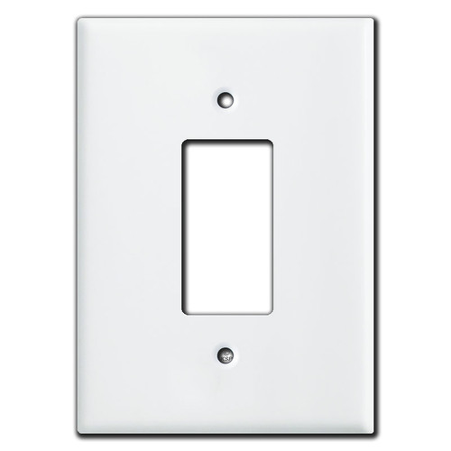 Extra Large Oversized GFCI Rocker Wall Plates - White