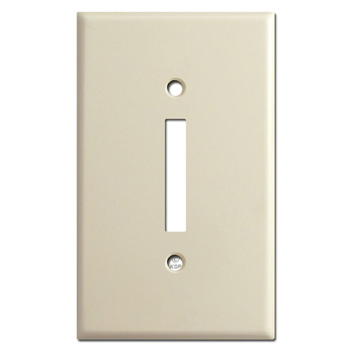 Older Leviton Skinny Single Rocker Switch Plate - Ivory