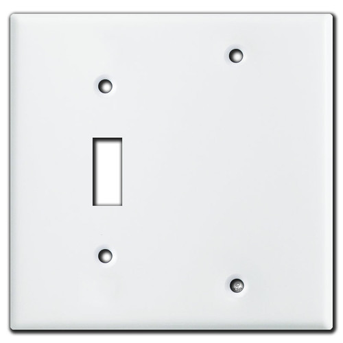 2 Gang 1 Toggle 1 Blank Cover Plates - White