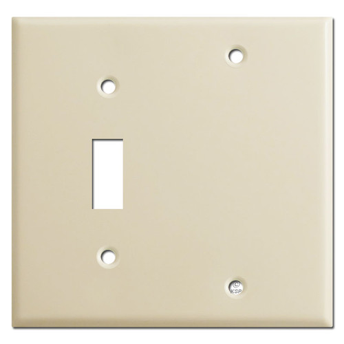 Single Toggle Single Blank Covers - Ivory