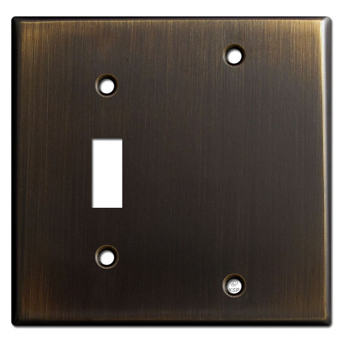 1 Toggle 1 Blank Light Switch Covers - Oil Rubbed Bronze