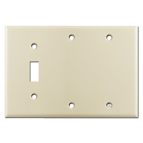 1 Toggle 2 Blank Wall Covers - Ivory