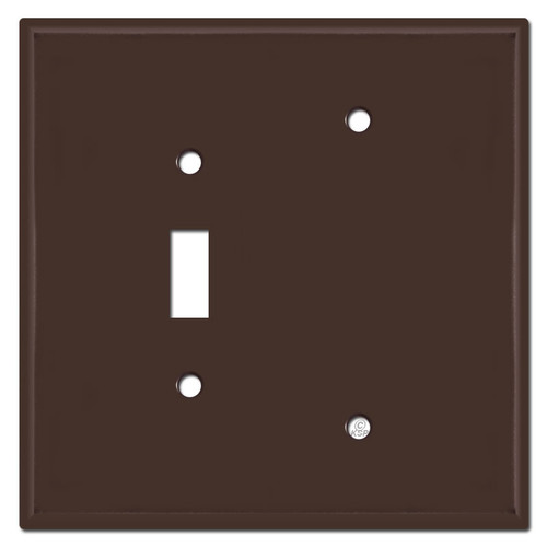 Oversized Single Toggle Single Blank Wall Plate - Brown