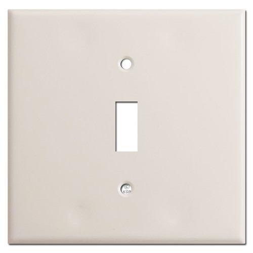 Double Gang Single Center Toggle Wall Plate - Light Almond