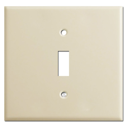 Double Gang Single Center Toggle Cover Plates - Ivory