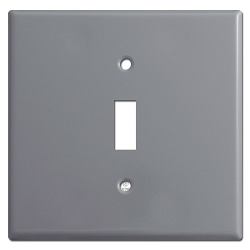 Extra Wide 1 Toggle Switch Plate - Gray