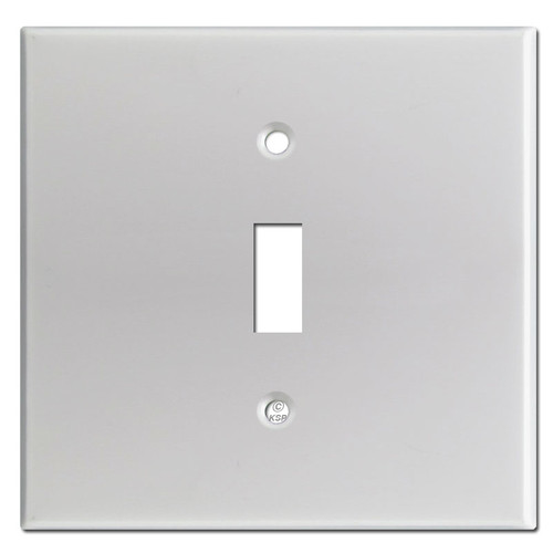 Brushed Aluminum Wider 1 Toggle Switchplates