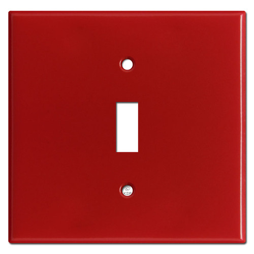 Wider Single Toggle Wallplates - Red