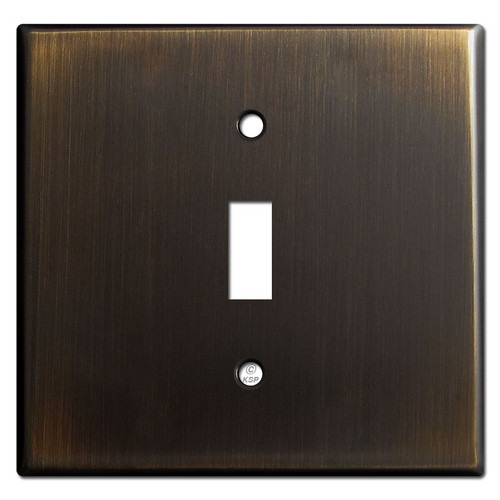 Two Gang  One Center Toggle Switch Cover Plates - Oil Rubbed Bronze
