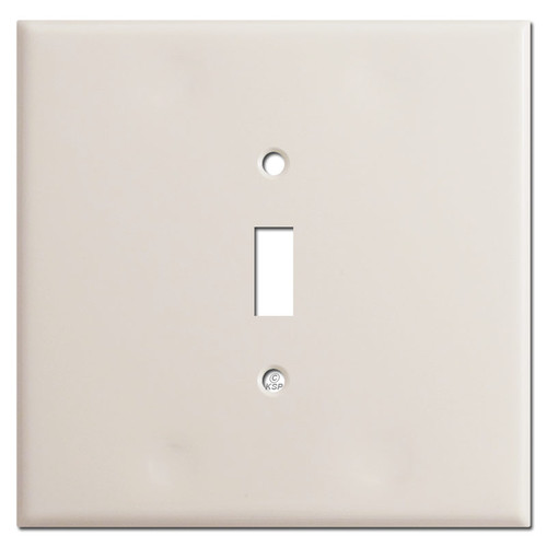 Oversized 2 Gang 1 Centered Toggle Plate Covers - Light Almond