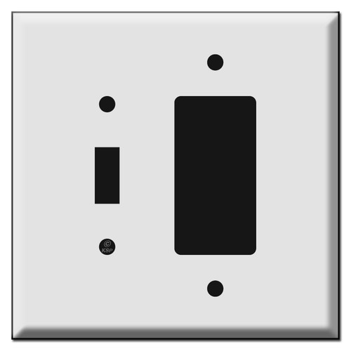 Oversized 1 Toggle 1 GFI Outlet Combination Switch Plates