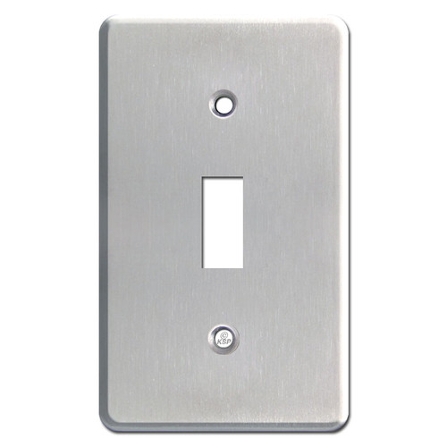 Extra Thick 1-Toggle Switch Plate - Satin Stainless Steel