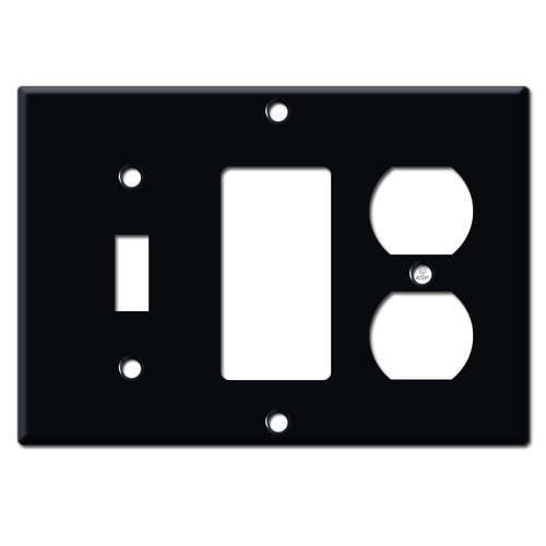 Outlet / GFCI / Toggle Cover Plates - Black