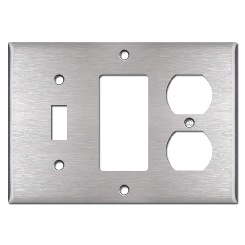Duplex / Decora / Toggle Switch Covers - Satin Stainless Steel