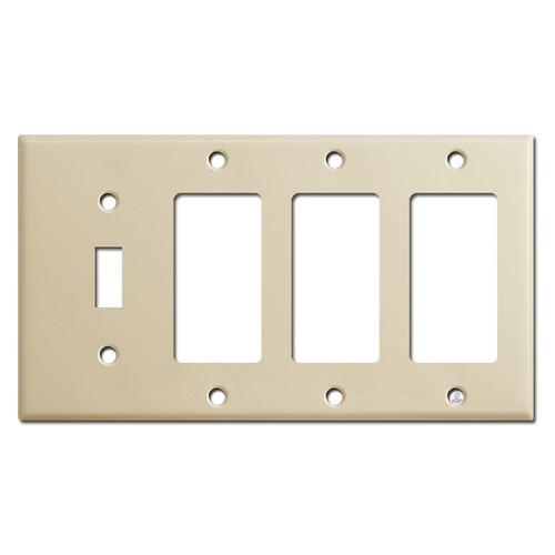 1 Toggle 3 Decora Switch Plates - Ivory