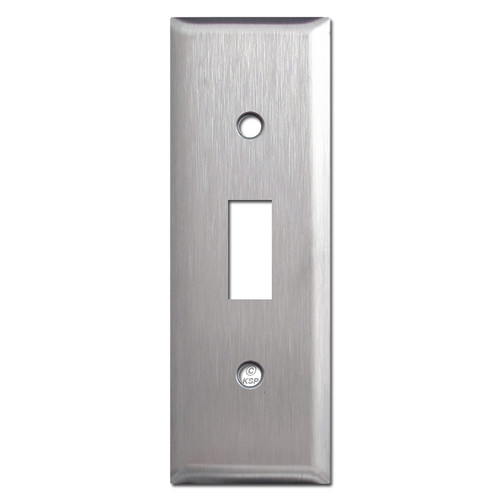 "1.5"" Thin Toggle Wall Cover Plates - Satin Stainless Steel"