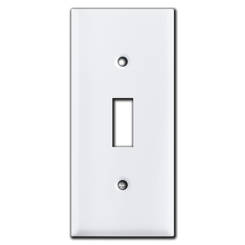 """2"""" Compact Toggle Switch Plate - White"""