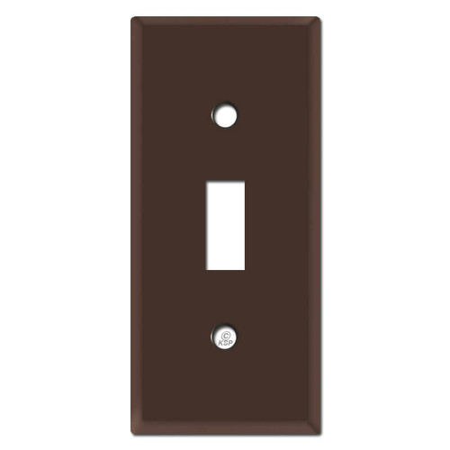 "2"" Skinny Toggle Switch Covers - Brown"