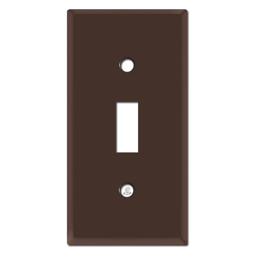 """2.25"""" Skinny Toggle Switch Plates - Brown"""