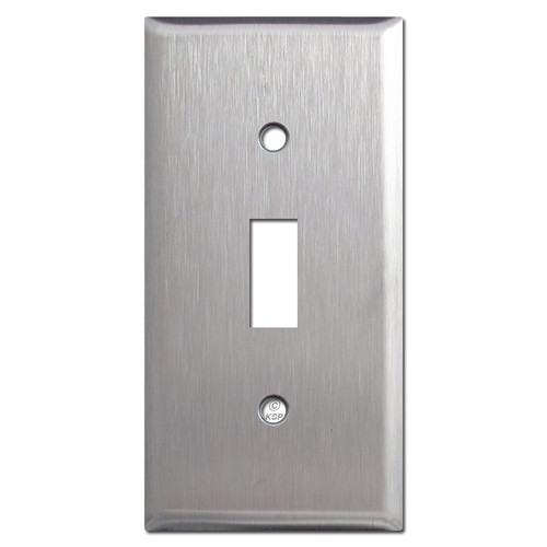"2.25"" Narrow Toggle Wall Plates - Spec Grade Stainless Steel"