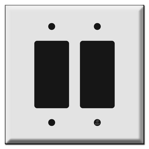 Oversized Double Decora Rocker Switch Plates for 2 Decora Devices