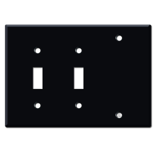 2 Toggle 1 Blank Cover Plates - Black