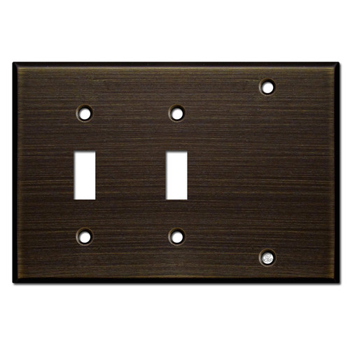 Double Toggle Blank Cover Plates - Oil Rubbed Bronze