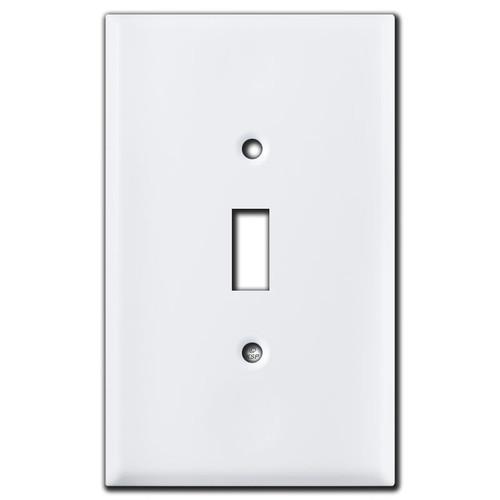 Oversized Toggle Switch Plates - White