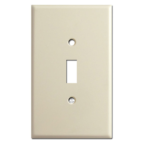 Oversized Single Toggle Light Switch Plates - Ivory