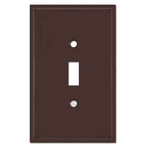 Jumbo Single Toggle Switch Cover Plates - Brown