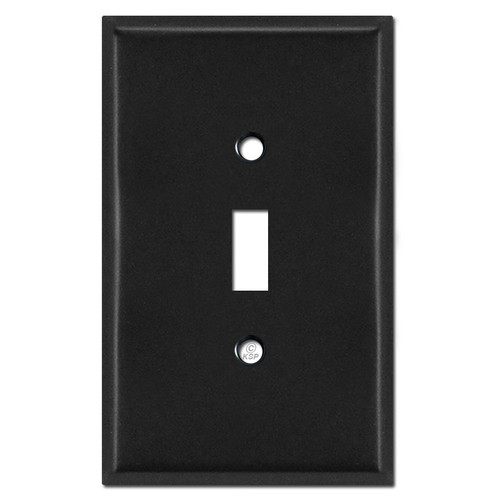 Oversized 1 Toggle Faceplates - Black