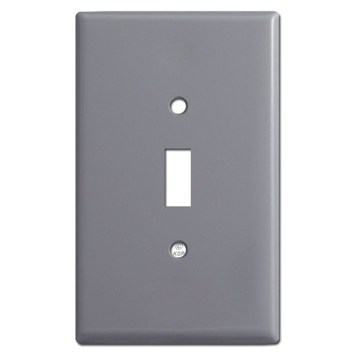 Jumbo 1 Toggle Switch Plate Covers - Gray