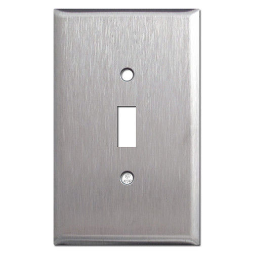 Jumbo Toggle Switch Plate - Spec Grade Stainless Steel