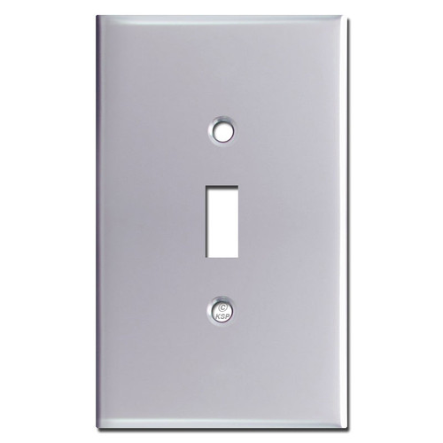 Oversized One Toggle Wallplate Covers - Polished Chrome