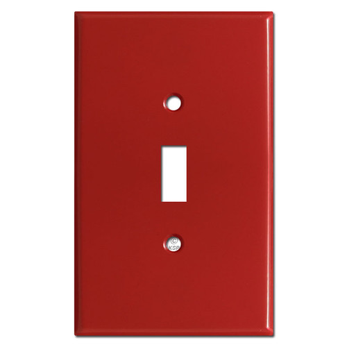 Jumbo One Toggle Switchplates - Red