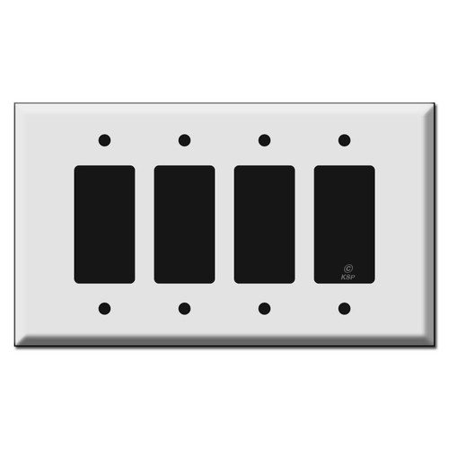 Oversized Four or 4 GFCI Decora Rocker Switch Plate Cover