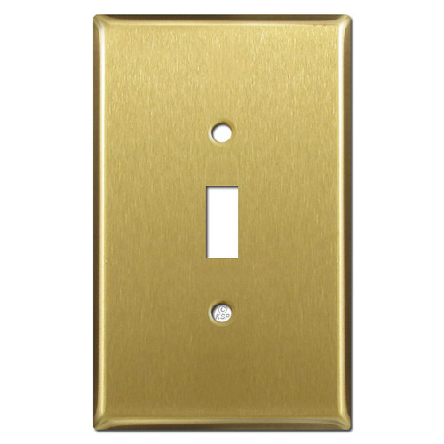 Jumbo One Toggle Cover Plates - Satin Brass