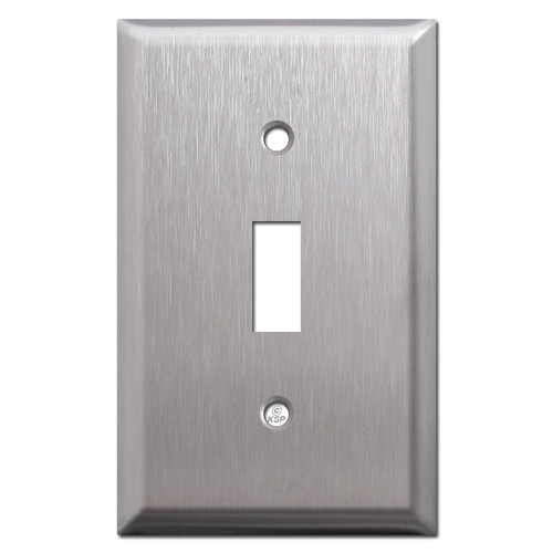 Lifted 1 Toggle Light Switch Plates - Satin Stainless Steel