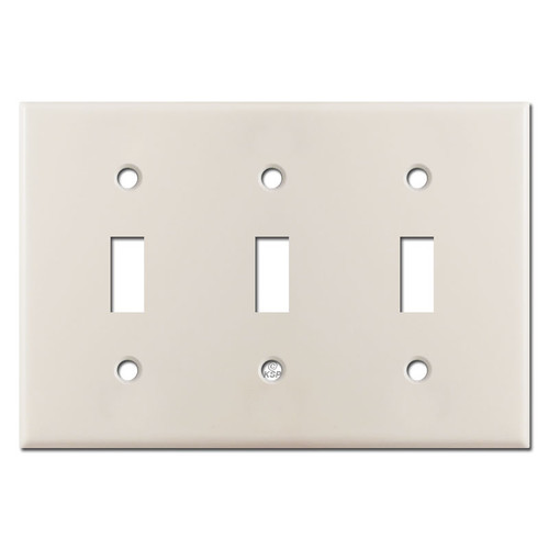 3 Toggle Switch Plate - Light Almond