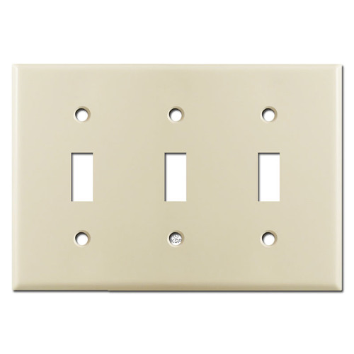 3 Toggle Switch Cover - Ivory