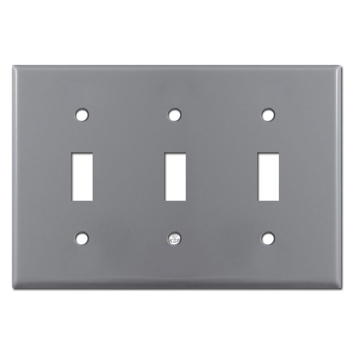 3 Toggle Wall Plates - Gray