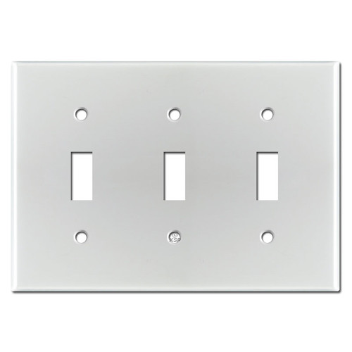 Triple Toggle Light Switch Cover - Brushed Aluminum