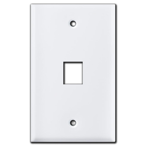 Single Telephone Jack Switch Plates - White