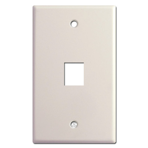 Single Telephone Jack Wall Plate Cover - Light Almond