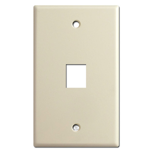 Single Telephone Jack Cover Plates - Ivory