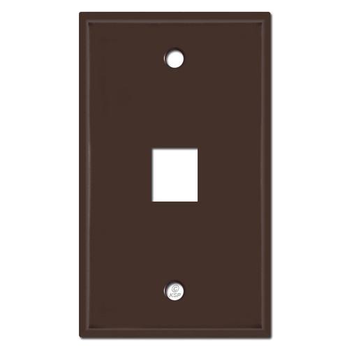 Single Phone Jack Switchplates - Brown