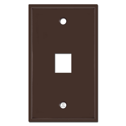 Single Phone Jack Switchplates - Brown