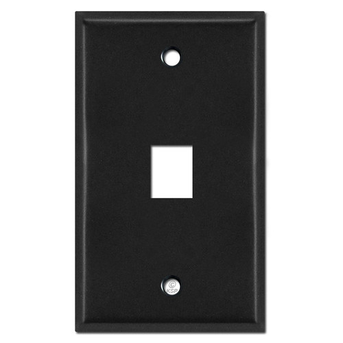 Single Phone Jack Wall Covers - Black